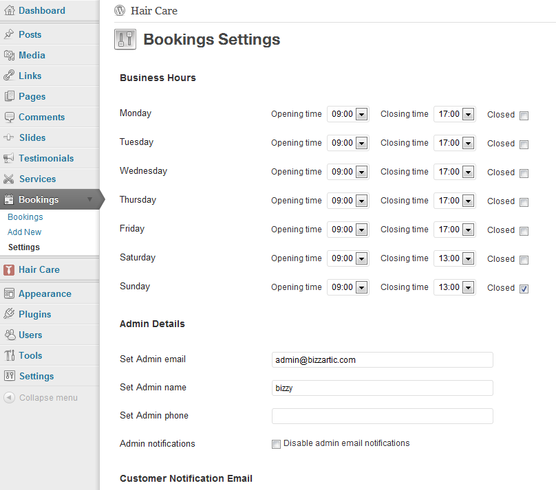 full booking system