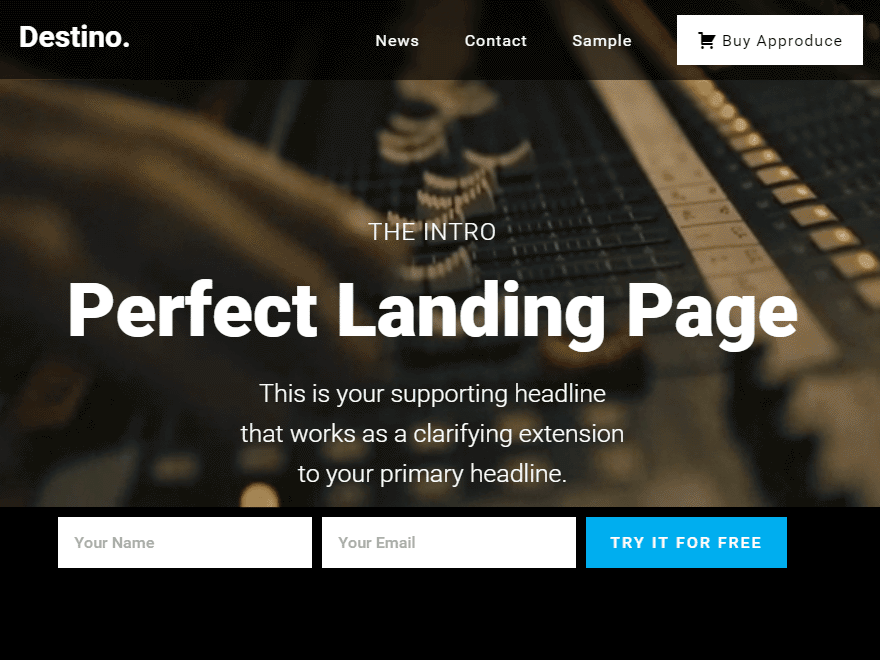 WordPress landing page theme